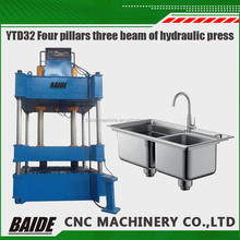 YTD32 four column hydraulic press 1000 Tons deep drawing hydraulic press machine for stainless steel kitchen sink