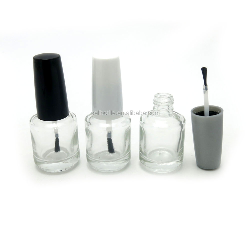 Clear 15ml nail polish bottle with brush wholesale