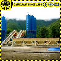 Advanced selling product mixing machine hzs60 stationary concrete batching plant for sale