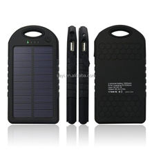 Waterproof Portable External Sun Charger Cellphone Battery solar Powerbank 4000MAH