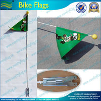Triangle flag used on bicycle