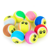 High Quality Funny Durable Paw Print Two Colors Tennis Rubber Dog Toy Ball for Dogs Playing