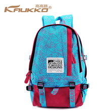 KAUKKO Brand Logo Printing Women's School Bags Outdoor Leisure Canvas Bag Travel Backpack for Promotions