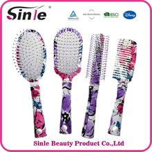 Cushion Easy Clean Ion Fusion Wet Hair Brush, Private Label Professional Plastic Hair Brush