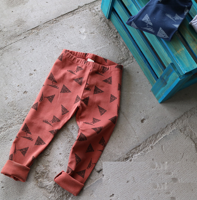 YE9659 Autumn cartoon printing casual children leggings pants