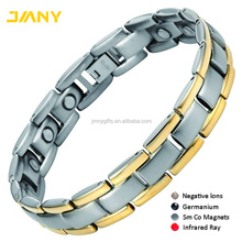 Customized 316L Stainless Steel Bio Magnetic Bracelet Parts