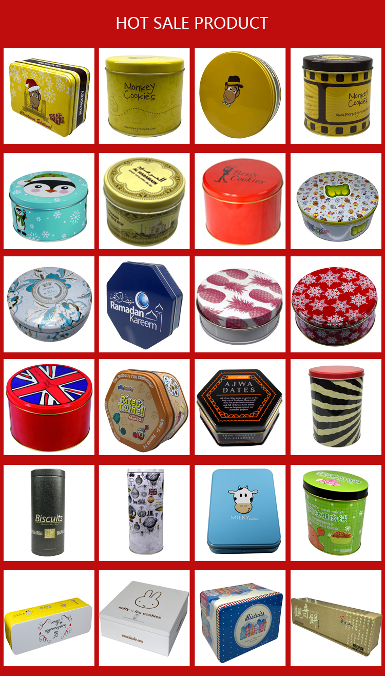 Octangle Tin Containers gift packaging box