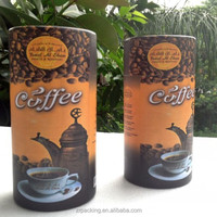 Custom paper round aluminum empty coffee cans