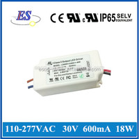 18W 30V 600mA Constant Current Dimmable LED Driver with ELV Dimmer