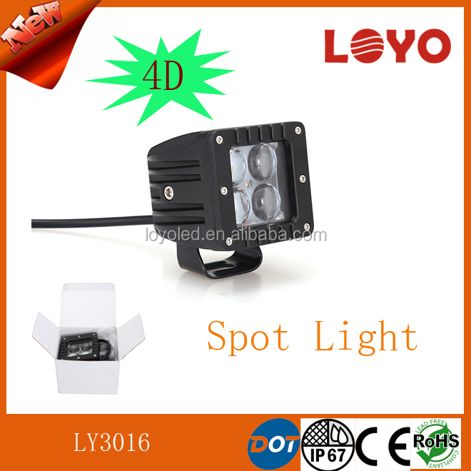 Offroad led car light 12v 4D led driving work light Spotlight for ATV/Truck/Tractor motorcycle 4x4 off road