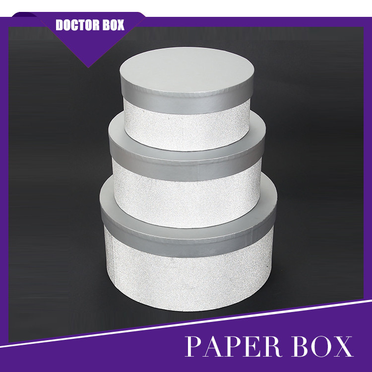 Wholesale Luxury Stackable Round Cardboard Gift Box/Decorative Hat Paper Round Box