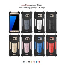 high quality hottest selling colorful tough 2 in 1hybrid armor phone case for samsung galaxy s7 edge