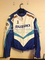 Suzuki custom Motorcycle Racing Leather Jacket