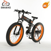 SY-262 Plus Brushless DC Motor W/ Hall Sensor 48V Electric Bicycle 1000w Folding Fat Tire E bike With 2 Batteries