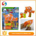 New design small plastic cute fish shaped animal soap blowing bubble gun toys