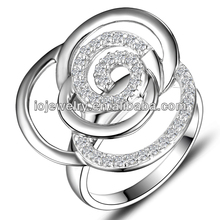 Valentine's Day fashion silver ring