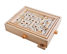Wood Table Maze / Balance Board Table Maze Solitaire Game for Kids and Adults - Large - Great gift!