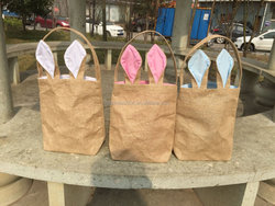 Burlap bunny bags in stock