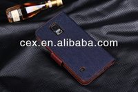 Wholesale - Best cell phone cases Jean cowboy Leather wallet pouch TPU soft denim case credit card purse for samsung Note3