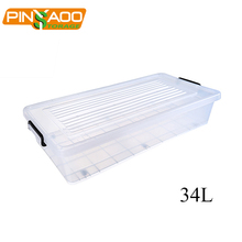 Multi purpose top quality wholesale 34L storage box plastic under bed