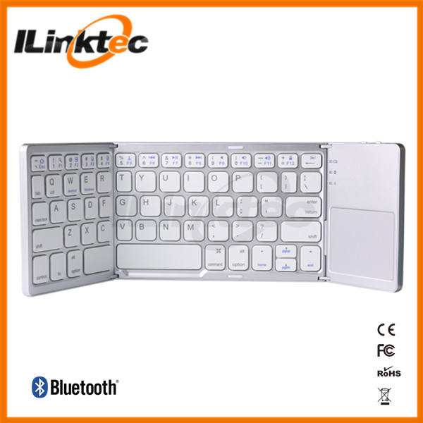 New Arrival Good Quality Folding Bluetooth Keyboard With Touchpad For ipad iphone