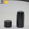 empty black color round gel deodorant container for cosmetic
