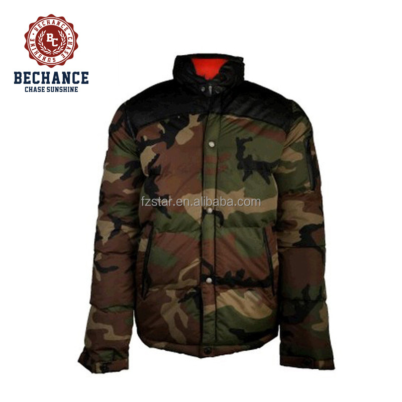 Camo Down Jacket for Men PQ227