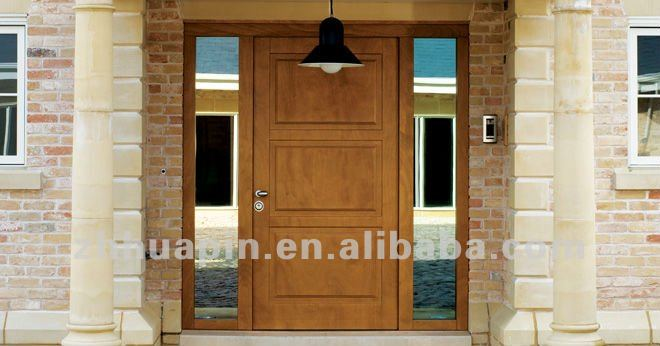 External wooden door,Oak double open wooden doors with glass