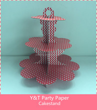 3layer Solid Color Cakestand Welcome Customized Deisgn And Shape Party Red