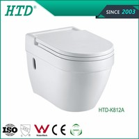 HTD-K812A Popular P trap Washdown Wall Hang Toilet