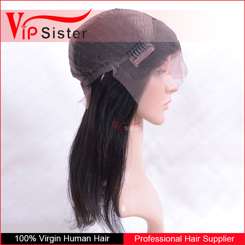 Vipsister Hair human hair full lace sew in wig 360 lace frontal wig cap glueless silk top full lace wig