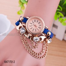 In stock new diamonds chain design mix color china watch factory