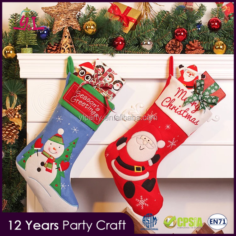 2017 Party Supply Deluxe Christmas Stocking For Decoration Home