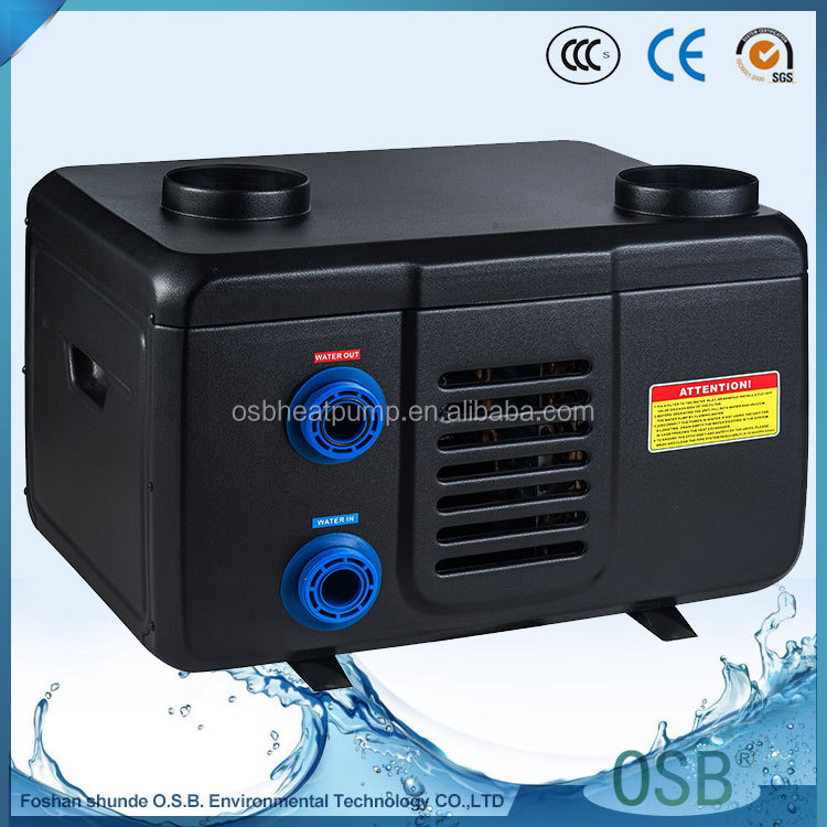 Plastic electric swimming pool air to hot water source evi dc inverter heat pump