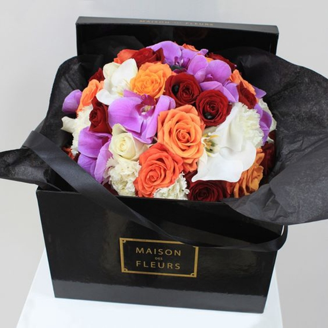 Best Price Ensured Quality Small MOQ Flower Gift Packaging Boxes Black Paper Box