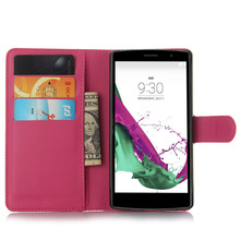 Magnetic Wallet Flip PU Leather With Stand Cover Case For LG G4 Beat