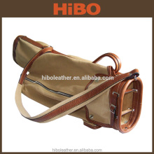 2016 New Design Canvas and Leather Carry Golf Travel Bag Golf Bag