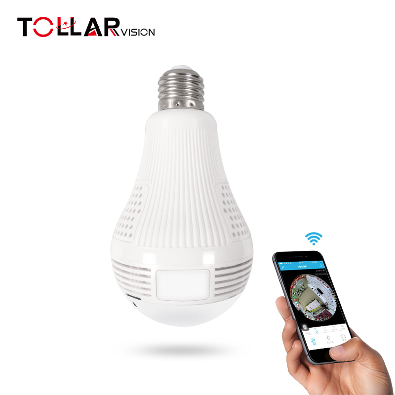 2017 Wholesale Newest Design <strong>WIFI</strong> P2p 360 degree LED Light Bulb hidden camera