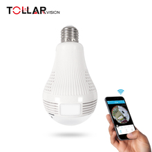 2017 Wholesale Newest Design WIFI P2p 360 degree LED Light Bulb hidden camera