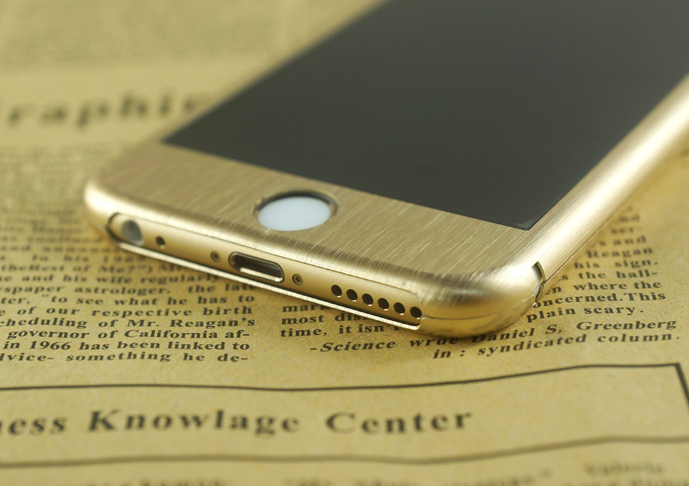 Full Color Titanium Alloy Tempered Glass for iphone 6 plus front+back