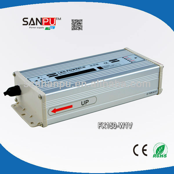 CE RoHS IP67 150W 12V 12.5A Waterproof ul listed power supply manufacturers, suppliers & exporters