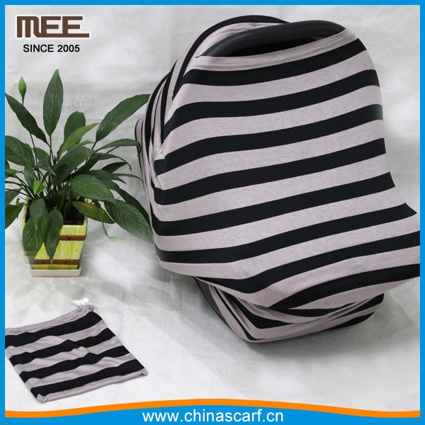 multi stripe carseat canopy breastfeeding cover nursing scarf baby wrap carrier