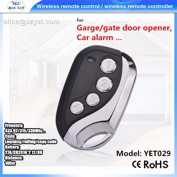 YET029 Garage Door universal RF Transmitter Remote Control