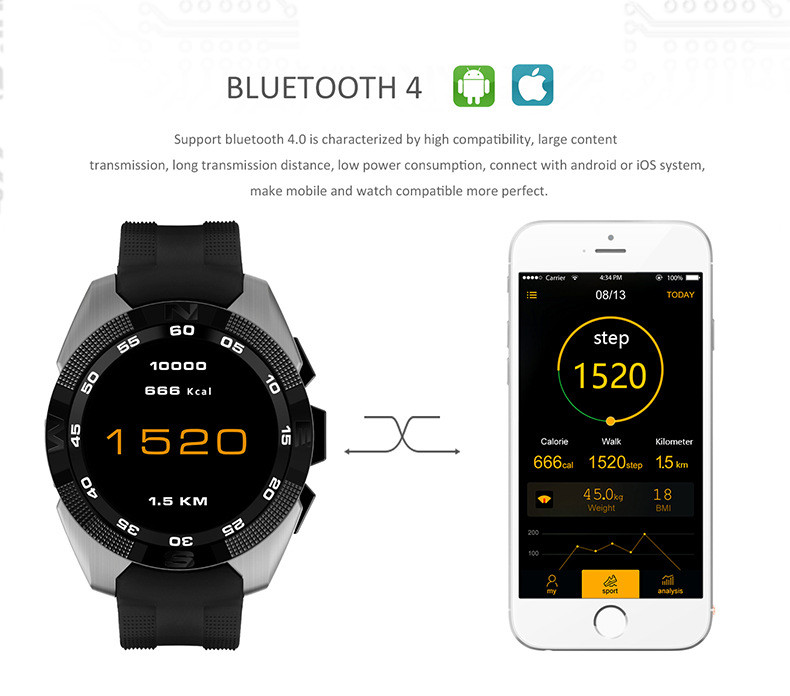 G5 2016 Wholesale Waterproof Bluetooth Android ce rohs smart watch