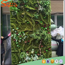 2016 new design fake artificial grass plant wall decor moss wall for sale