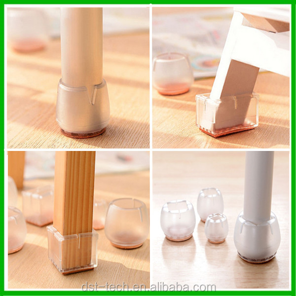 Custom Shape Silicone Anti slide Floor Protectors Chair Leg Table Leg Protection