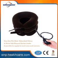 Full flannel inflatable air neck traction cervical collar cervical traction device