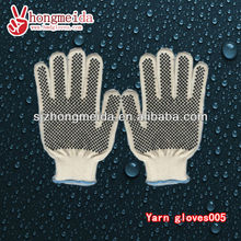 Cotton PVC dotted gloves, safety working and soft use