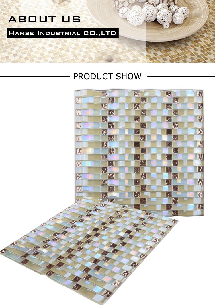 Gt004 Crystal Glass Mosaic,Glass Backsplash Tile Sale,Smalti Glass ...