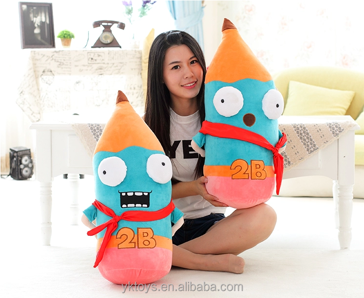 China soft toys Factory customized hot selling pencil shape plush decorative throw pillow minion Christmas soft toy